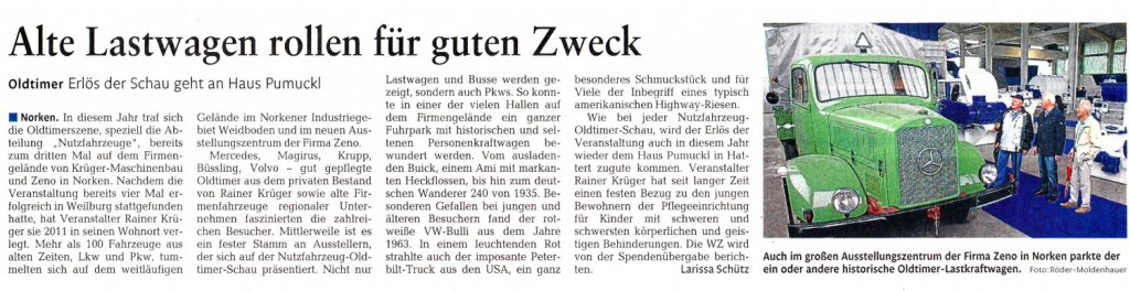WWZ 140712 Bericht Oldtimerschau